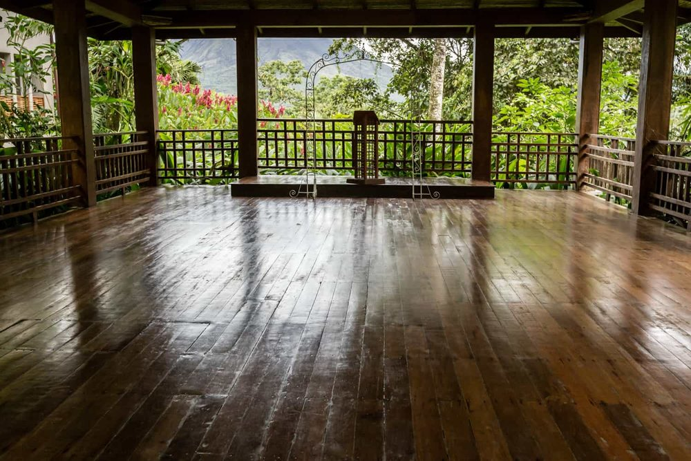 Wood pavilion in La Fortuna for wedding ceremonies and receptions.