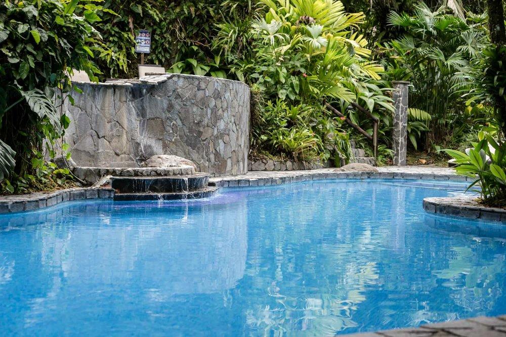 Pool at Lost Iguana Resort & Spa, a La Fortuna wedding destination.