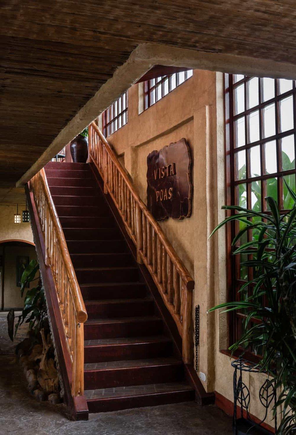 Entrance to La Paz Waterfall Gardens' Vista Poas Restaurant.