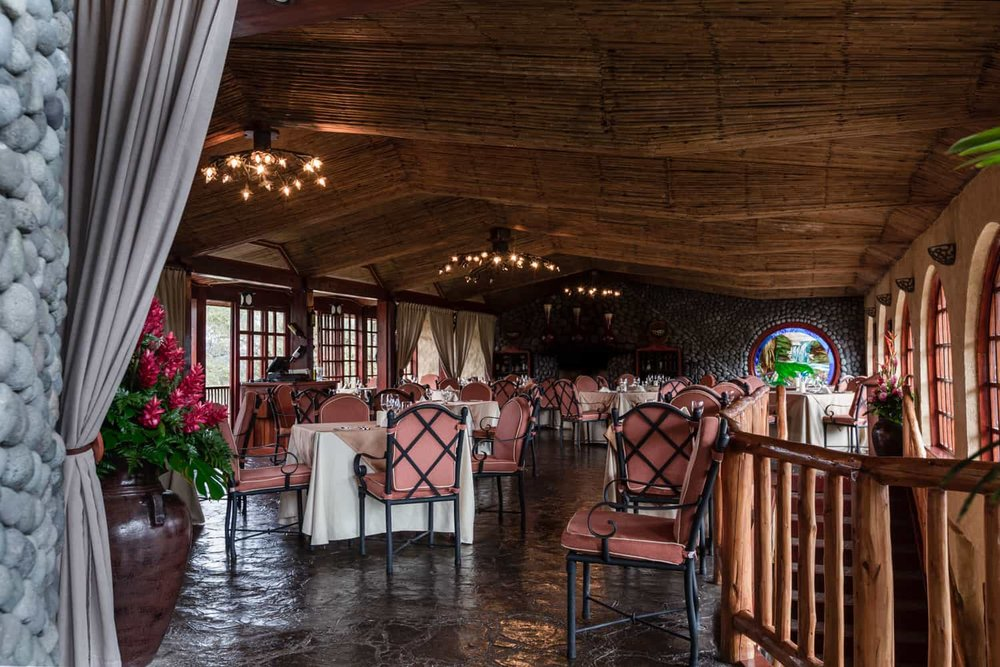 Luxury dining experience for wedding guests staying at Peace Lodge in Costa Rica.