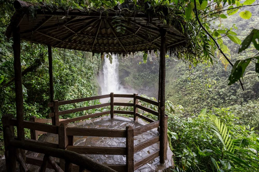Gazebo at La Paz Waterfall Gardens perfect for elopements & ceremonies.