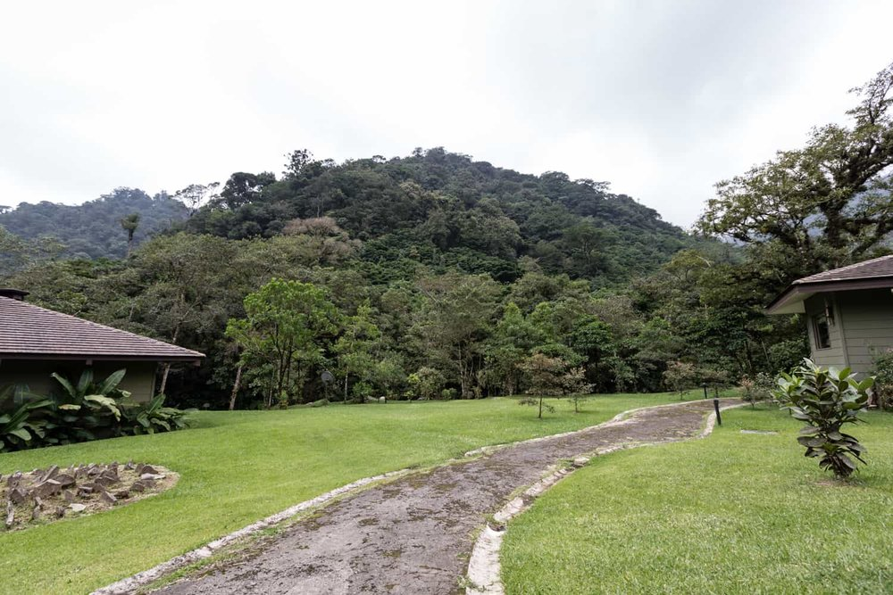 El Silencio Lodge's lawn are for wedding ceremonies.