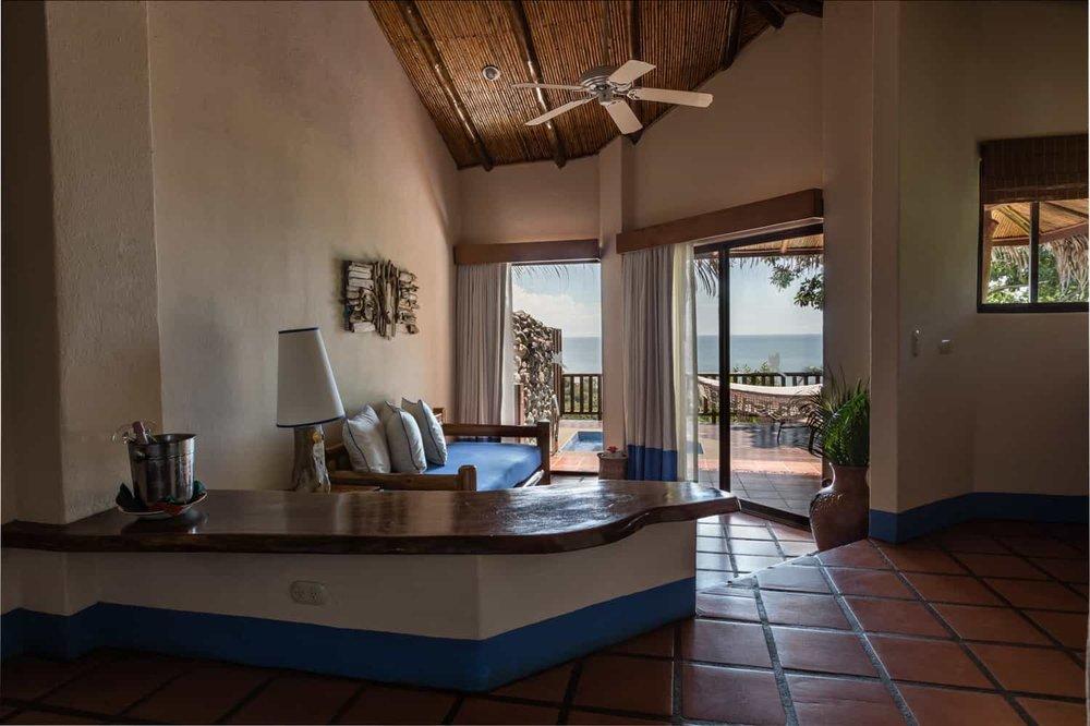 Tiered honeymoon suite design with Pacific Ocean view.