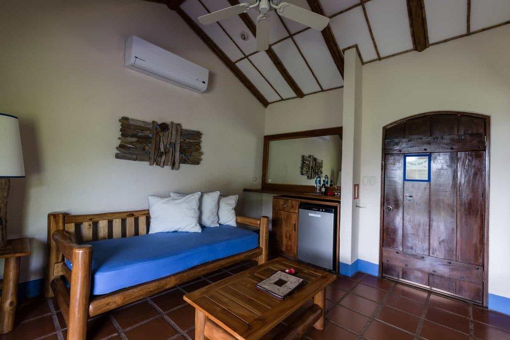Photo of living area in premium suite.