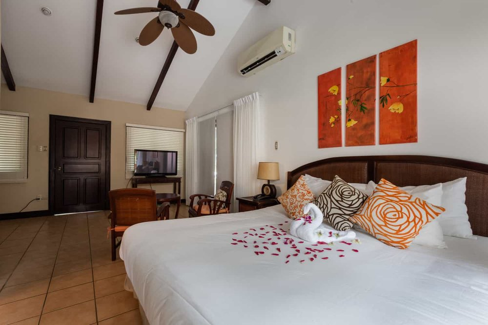 View of Bahía del Sol's spacious suite for honeymoon.
