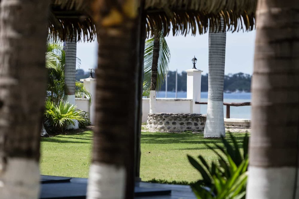 Photo of lush lawn wedding venue at Bahia del Sol Hotel.