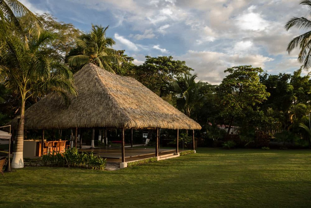 Photo of beach wedding venue at sunset in Guanacaste.