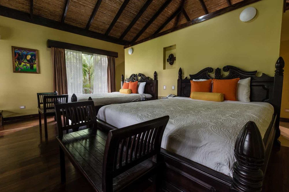 Amazing accommodations for wedding guests at luxury rainforest hotel.