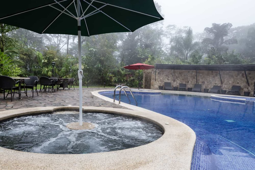 Rio Celeste Hideaway Hotel's pool & bar site for weddings.