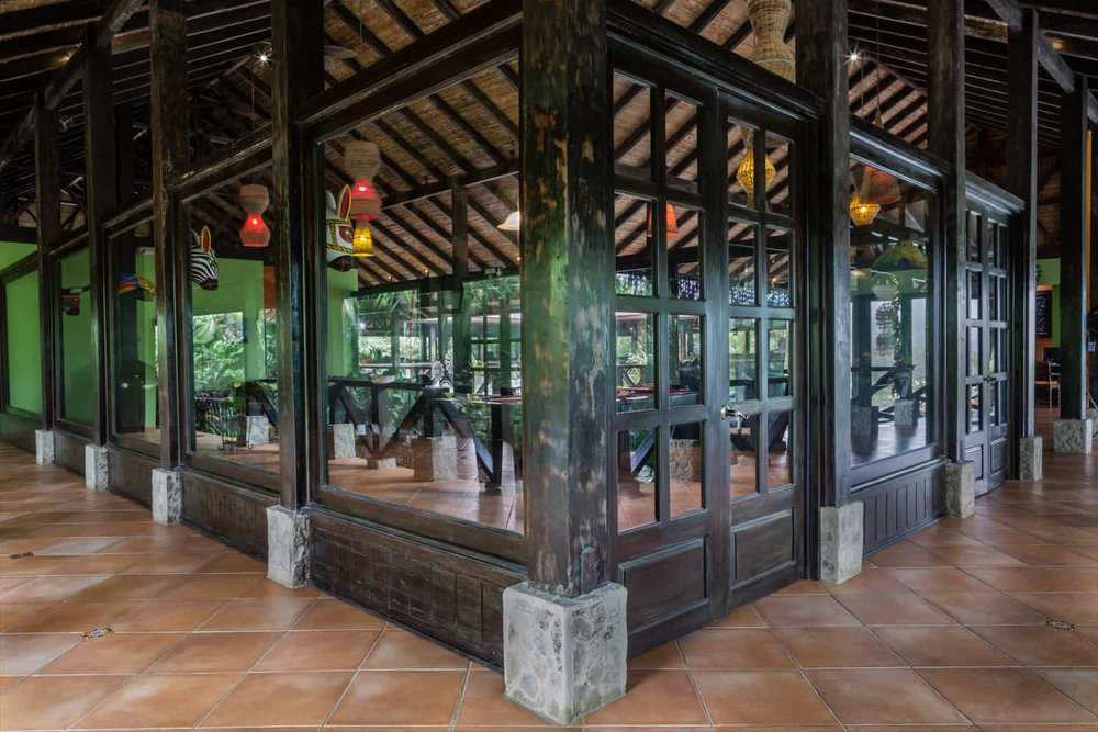 Outside view of private salon for weddings at Rio Celeste Hideaway Hotel.