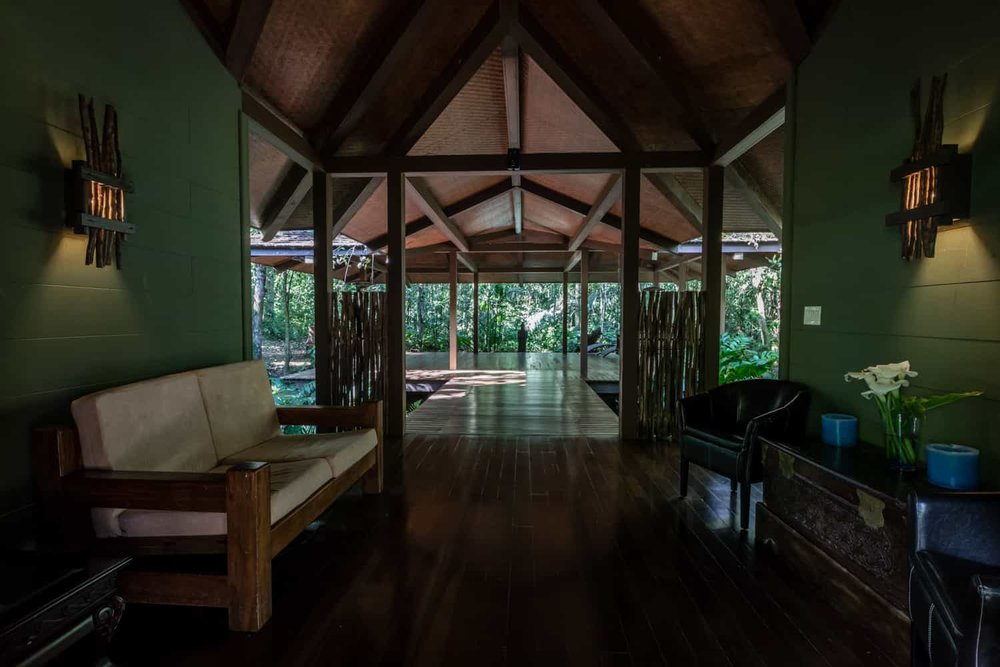El Silencio Lodge's pavilion for wedding day events.