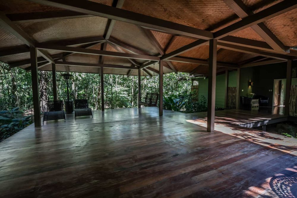 Pavilion for wedding events in cloud forest at El Silencio Lodge.
