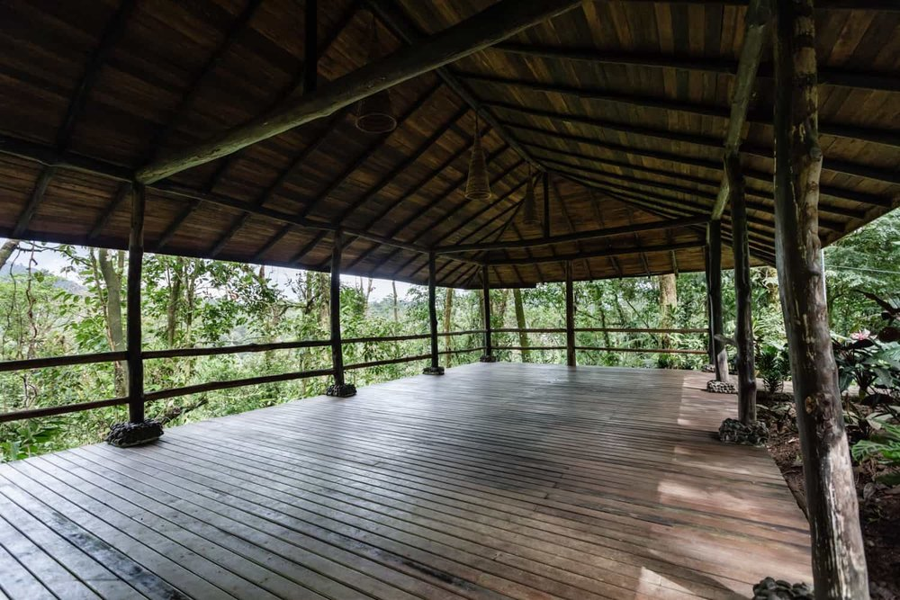 Amazing rainforest wedding destination at Rio Celeste Hideaway Hotel's pavilion.