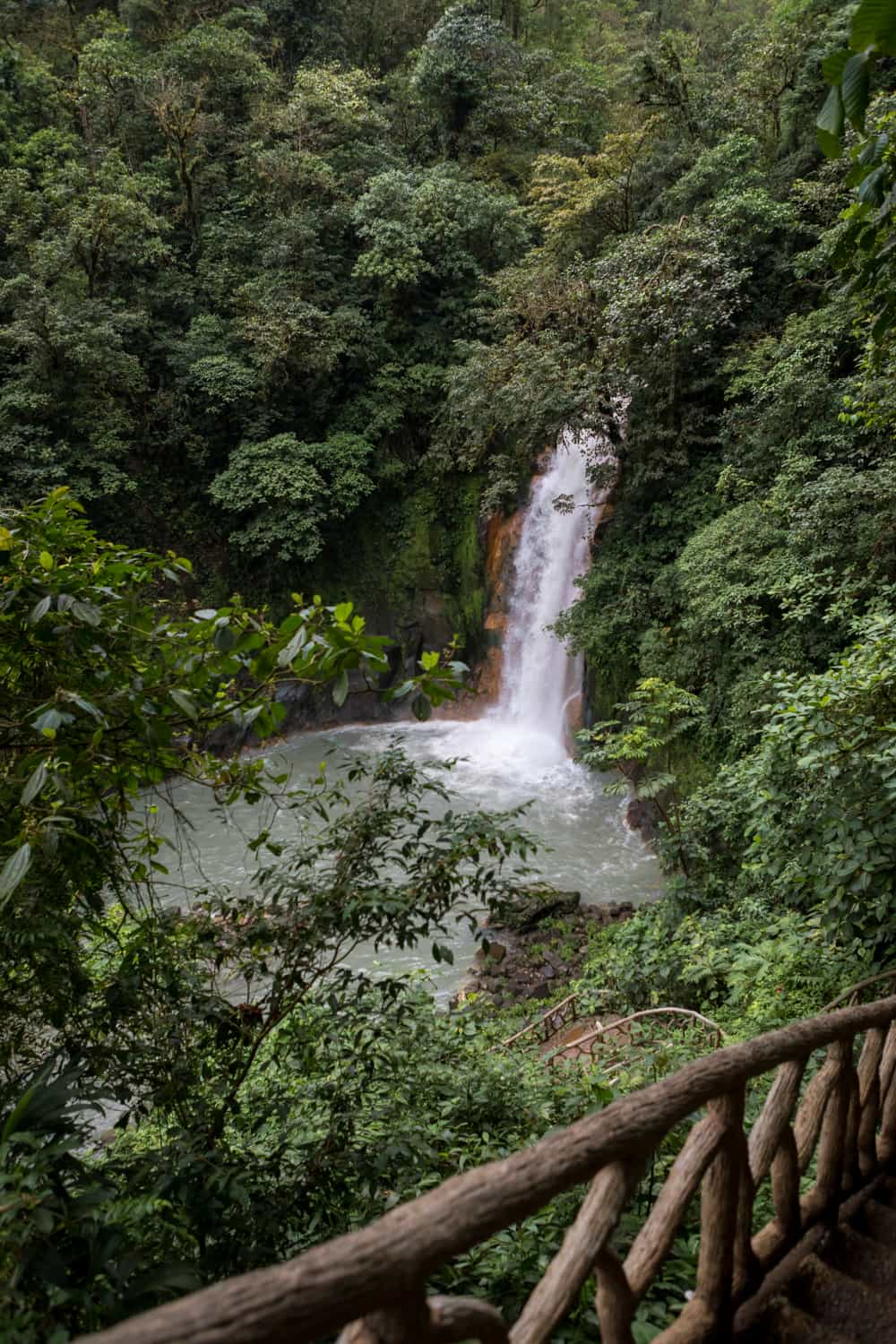 Wedding ceremony site at Rio Celeste Waterfall in Costa Rica.