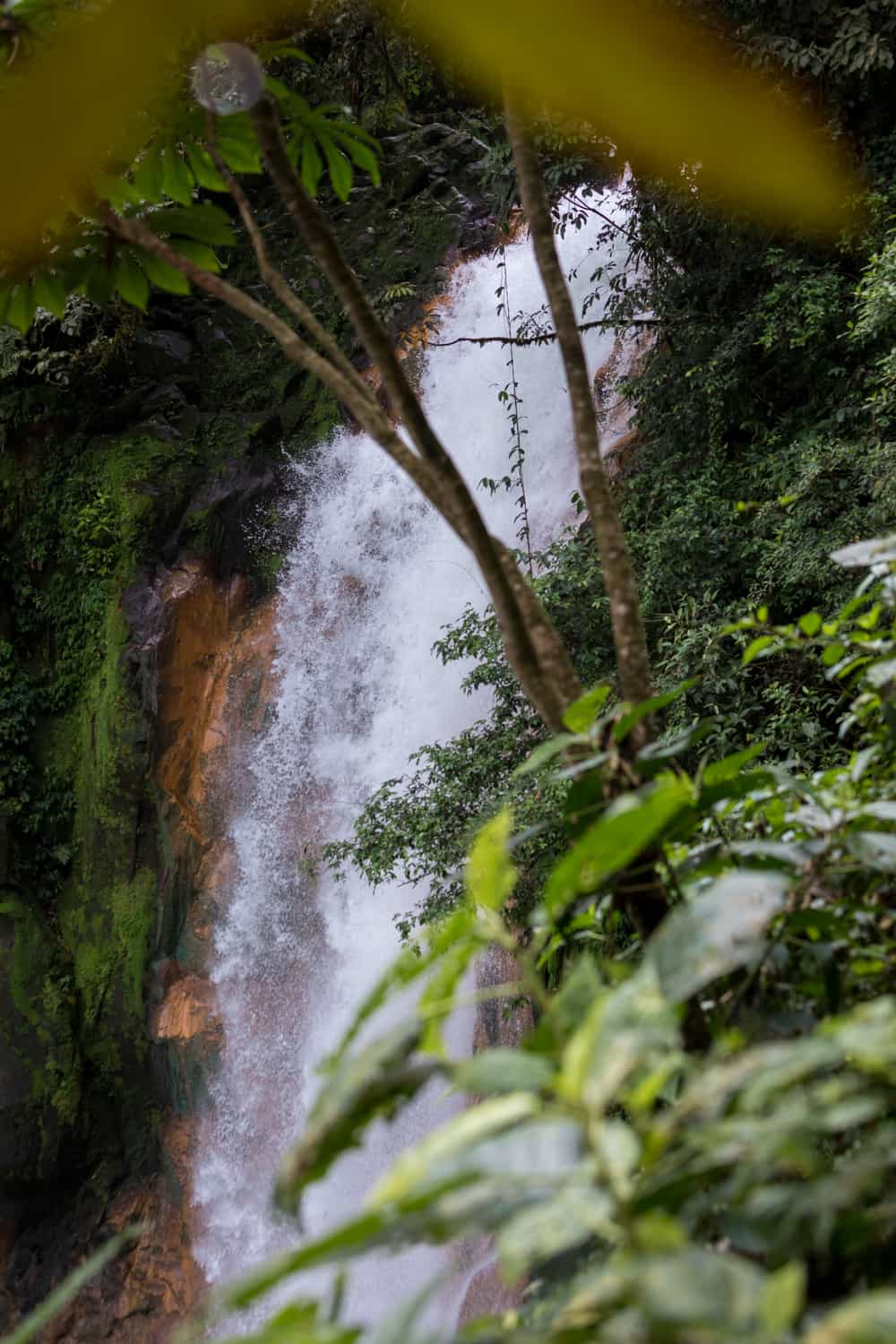 See the Rio Celeste Waterfall from terrace that is ideal for weddings.
