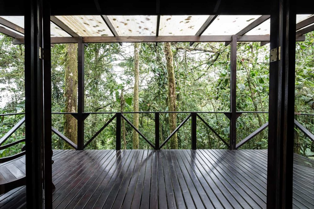 Wood deck in Rio Celeste Hideaway Hotel's honeymoon suite is great place for intimate wedding.