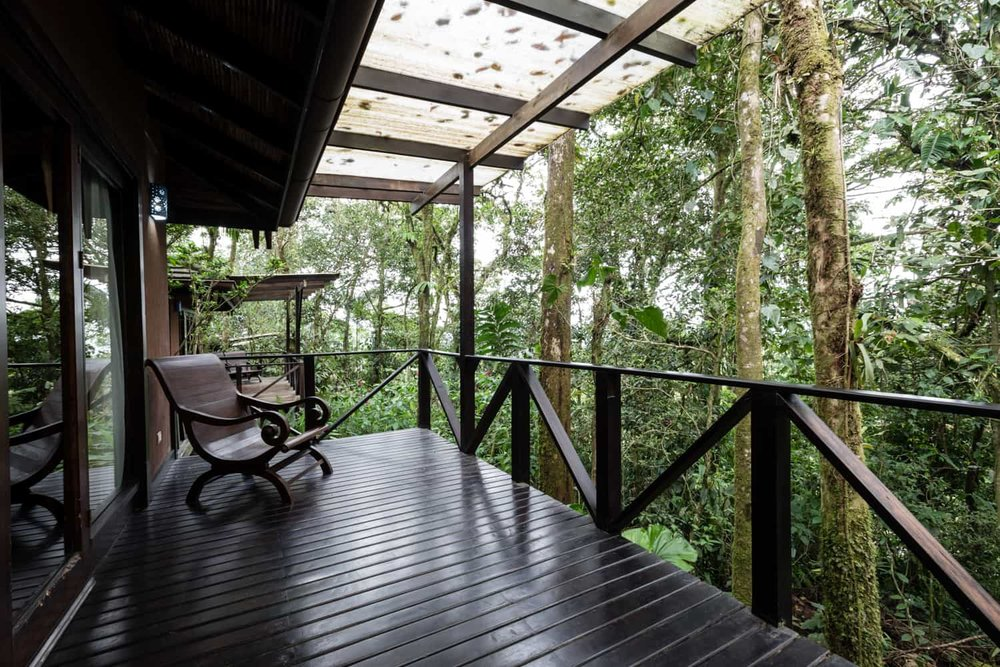 Private wedding location with garden view at Rio Celeste Hideaway Hotel.