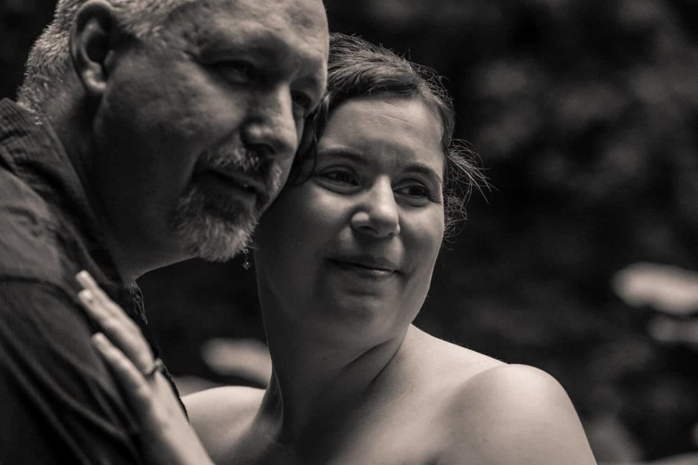Black and white wedding portrait of couple getting married in Costa Rica.