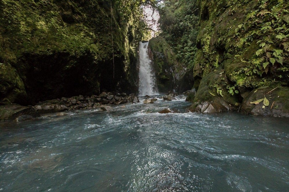 The second waterfall at Las Gemelas Waterfalls in Bajos del Toro.