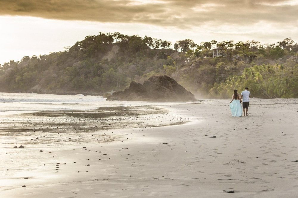 A Manuel Antonio Beach that is an amazing place to propose.