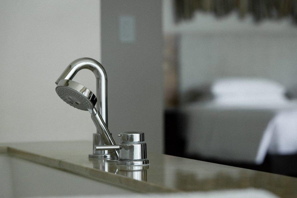 Luxury jacuzzi tub in Andaz Resort's honeymoon suite in Costa Rica.