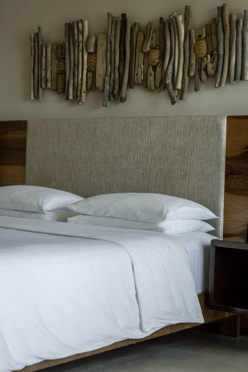 Andaz Resort honeymoon suite bedroom.