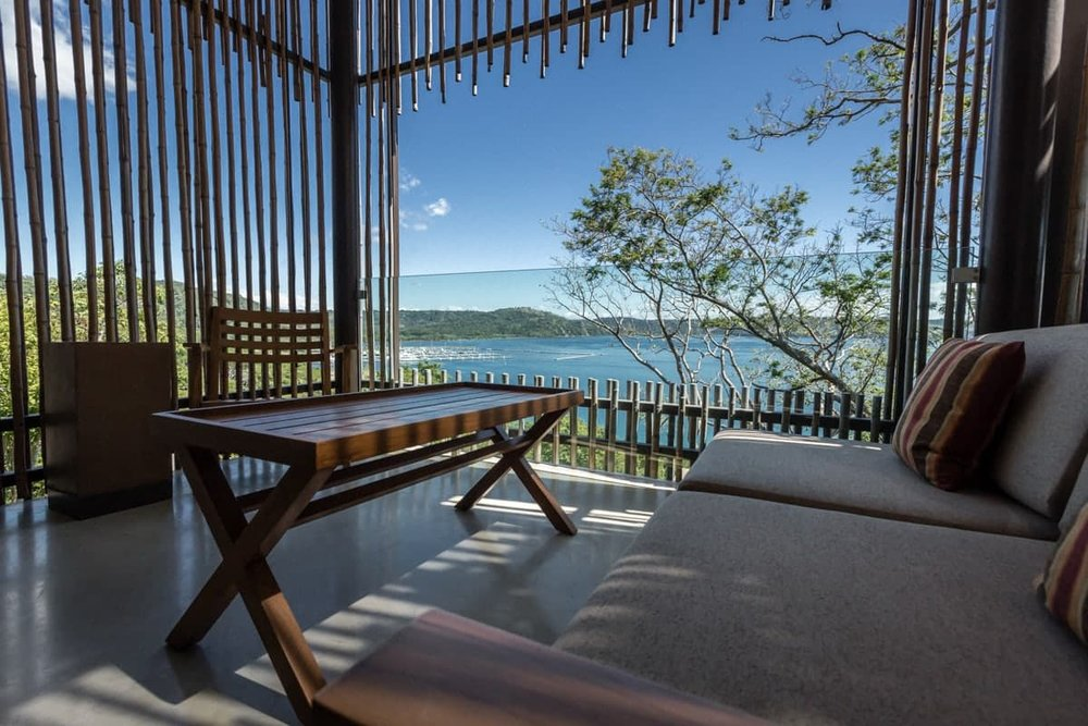 Andaz Resort's guest room with balcony with amazing views.