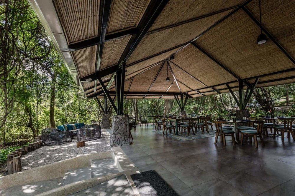 Covered area for wedding reception at Andaz's Beach House, Papagayo.