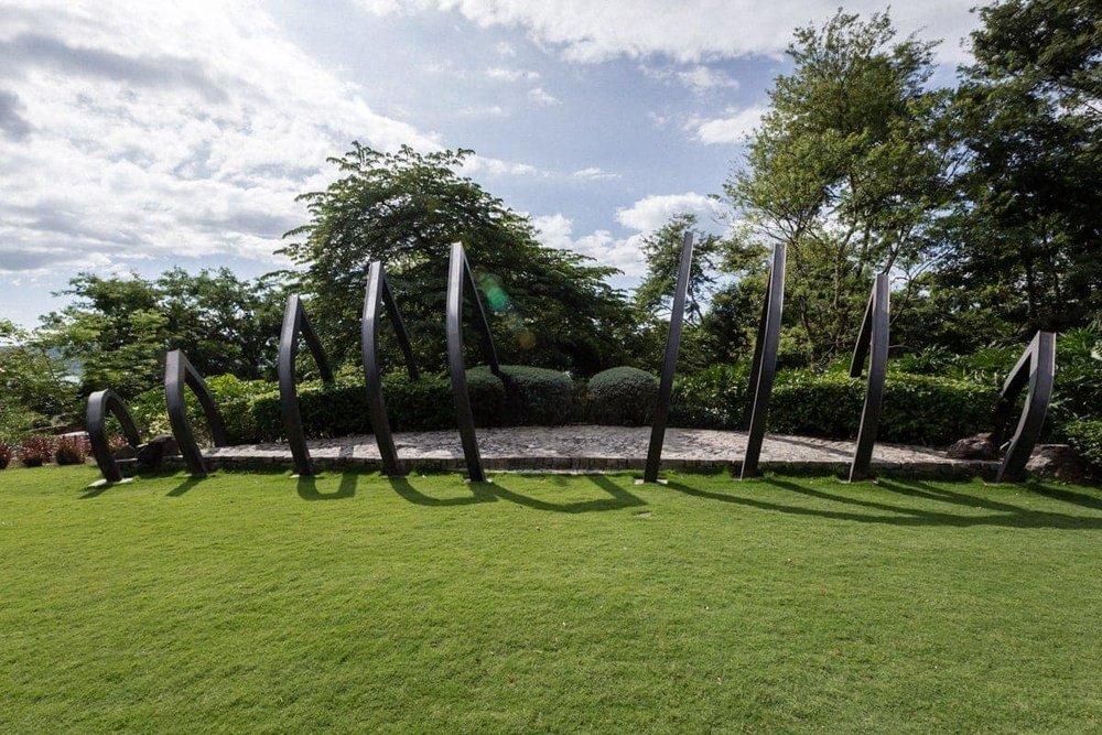 Guest view of Andaz Resort's garden venue for wedding ceremonies.