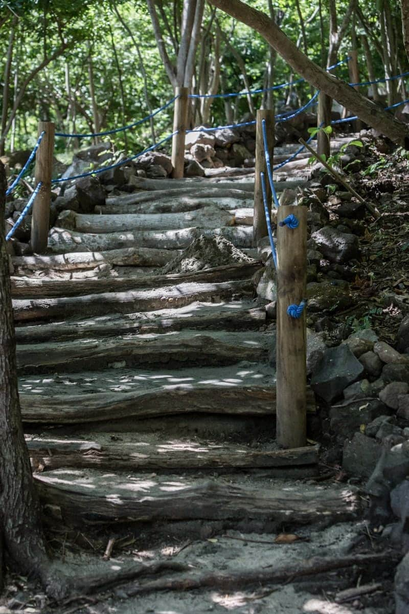 Stairs leading to small beaches at Andaz Resort in Papagayo.