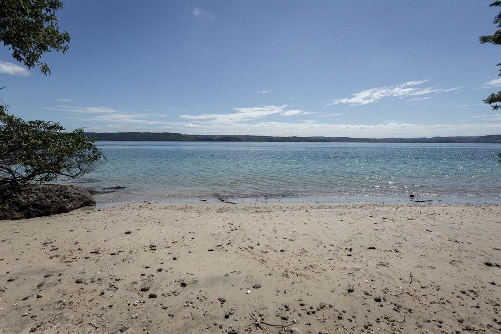 View of ocean from beach at Andaz Resort, Papagayo.