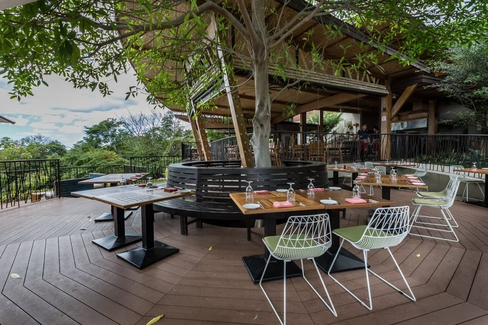Outside seating area for wedding receptions at Rio Bhongo at Andaz.