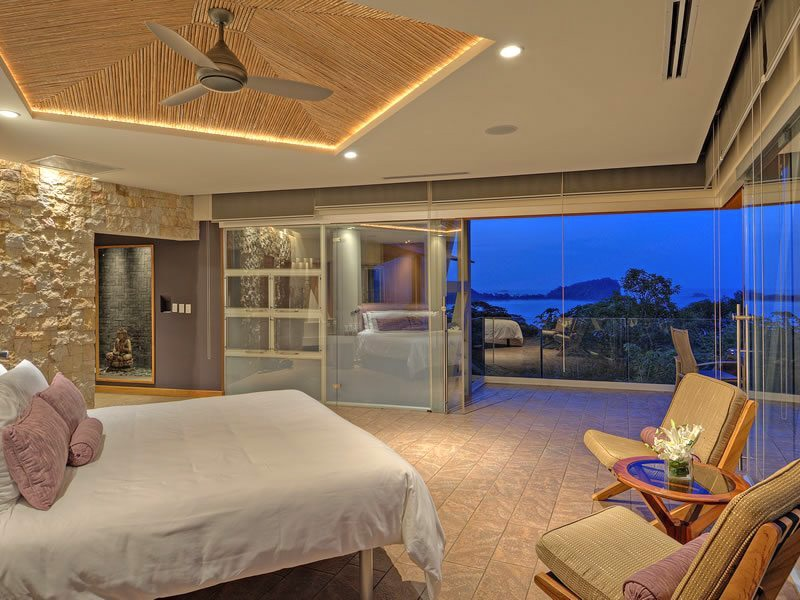 Luxury guest accommodations at Villa Punto de Vista with gorgeous ocean views.