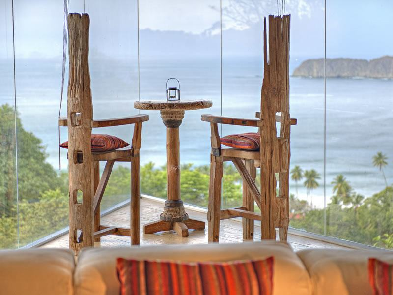 View of ocean from luxury guest suite at Villa Punto de Vista in Manuel Antonio, Costa Rica.