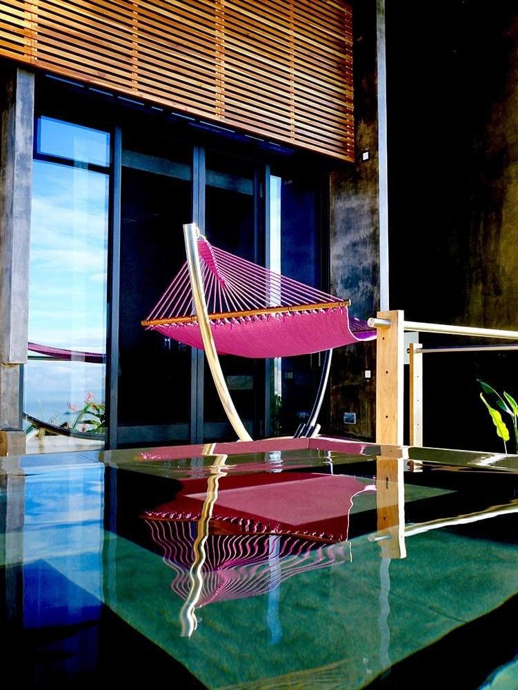 Private pool outside honeymoon suite at Kura Hotel.