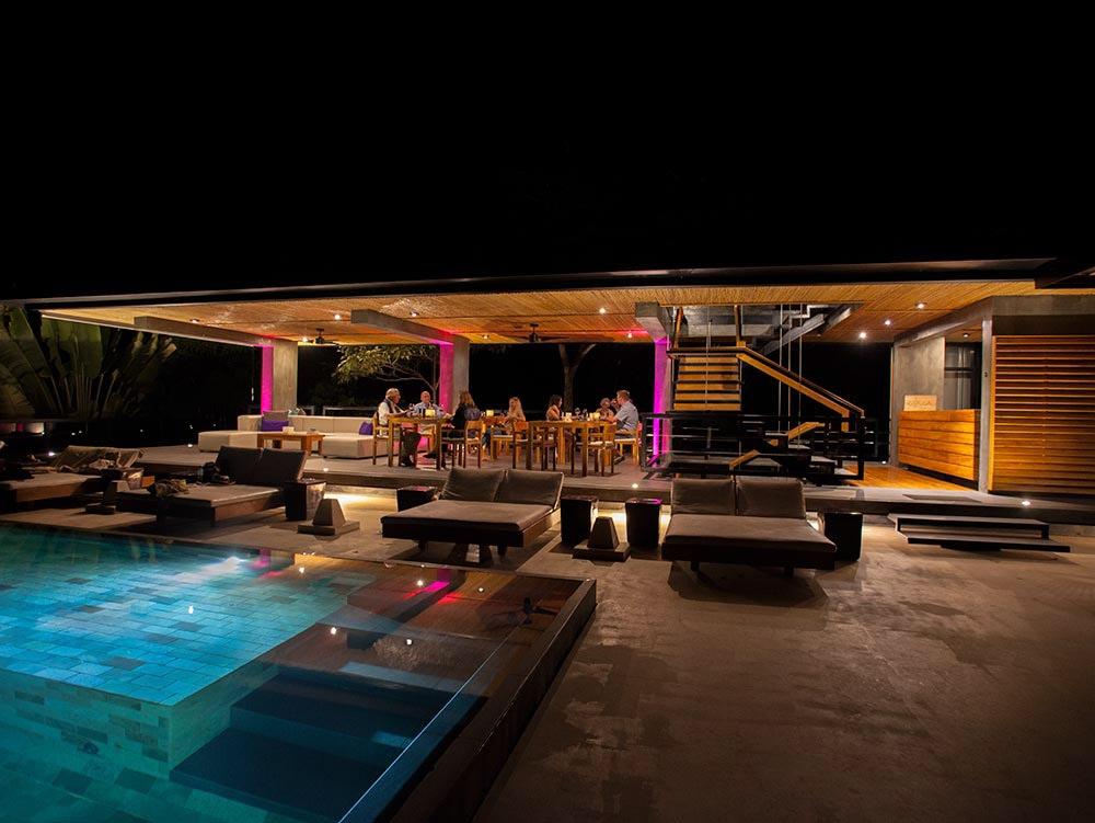 Wedding reception venue at Kura Hotel in Costa Rica.