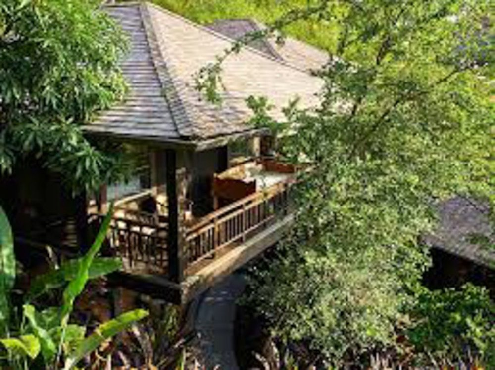 Areal view of bungalow for honeymoon suite at El Chante Bungalows, Costa Rica.