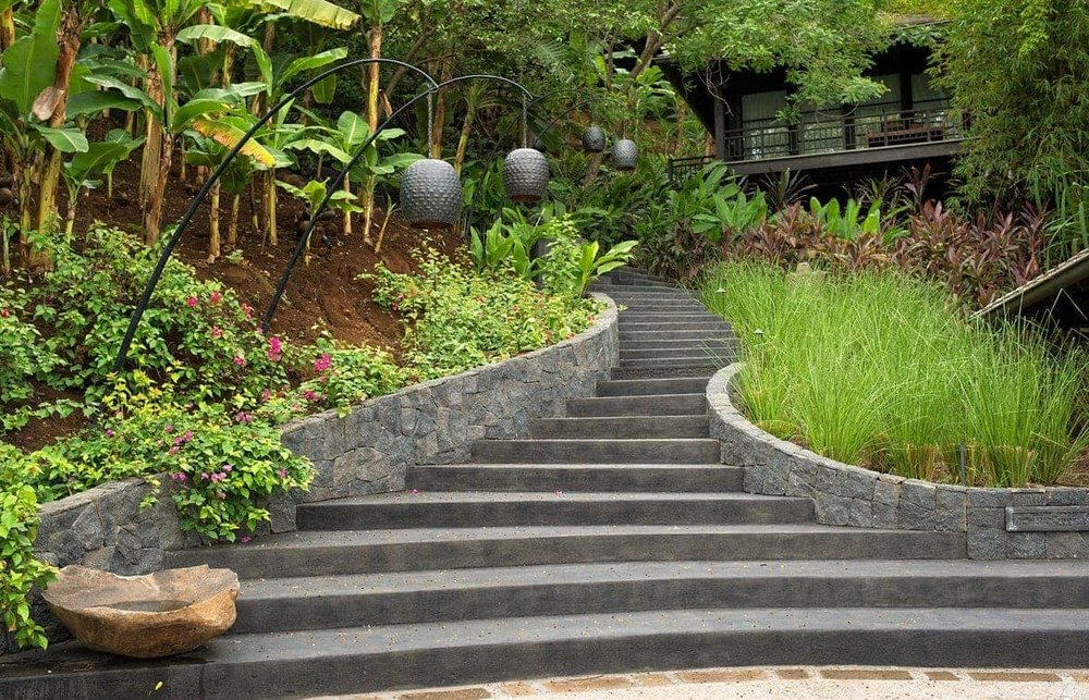 What a gorgeous staircase for bride and groom photos at El Chante Bungalows!