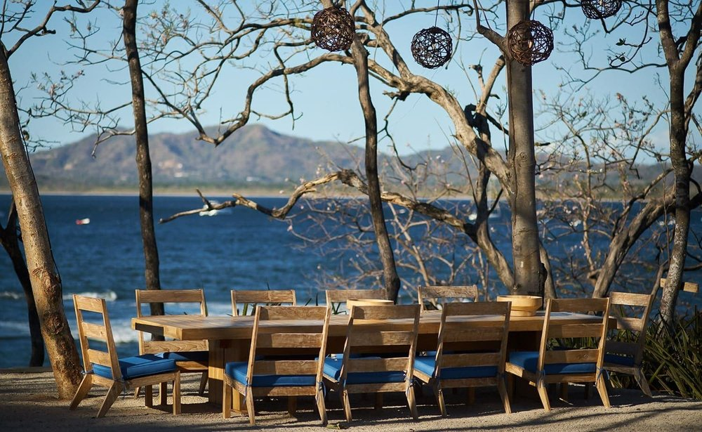 Outside area with ocean views for wedding ceremonies, receptions, and dinners.