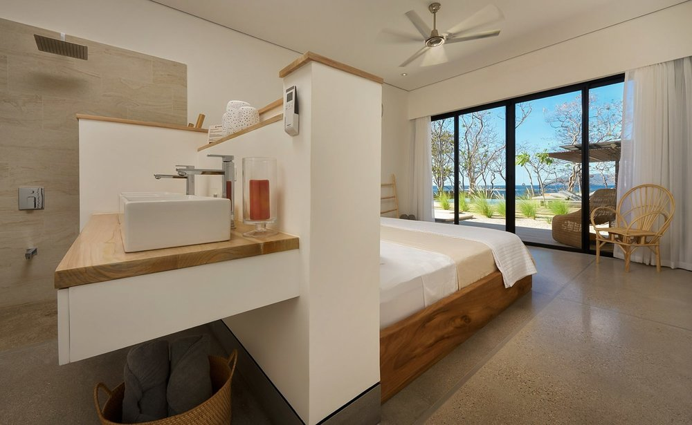 Master suite with ocean view for newlyweds at Villa Morabeza, Tamarindo.