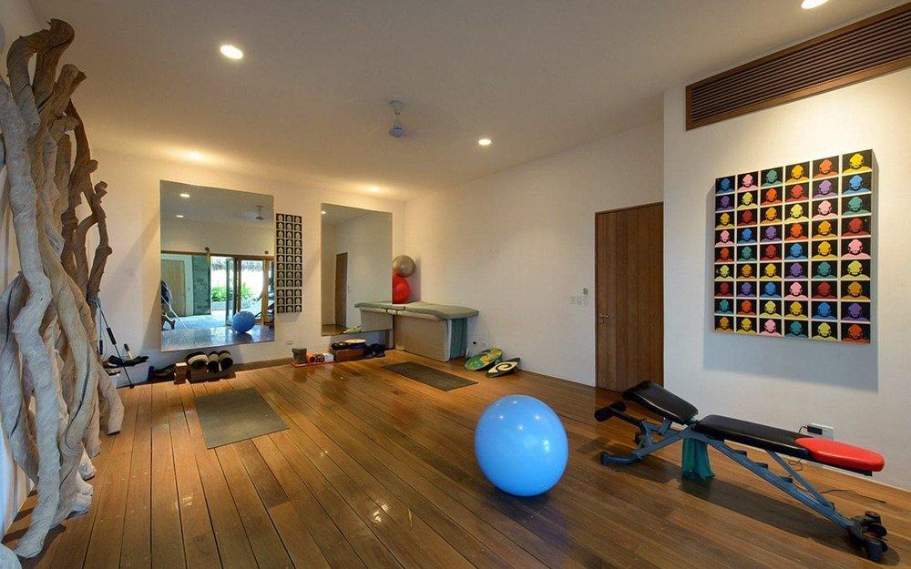 Exercise room at Casa Alang Alang, Tamarindo, Costa Rica.