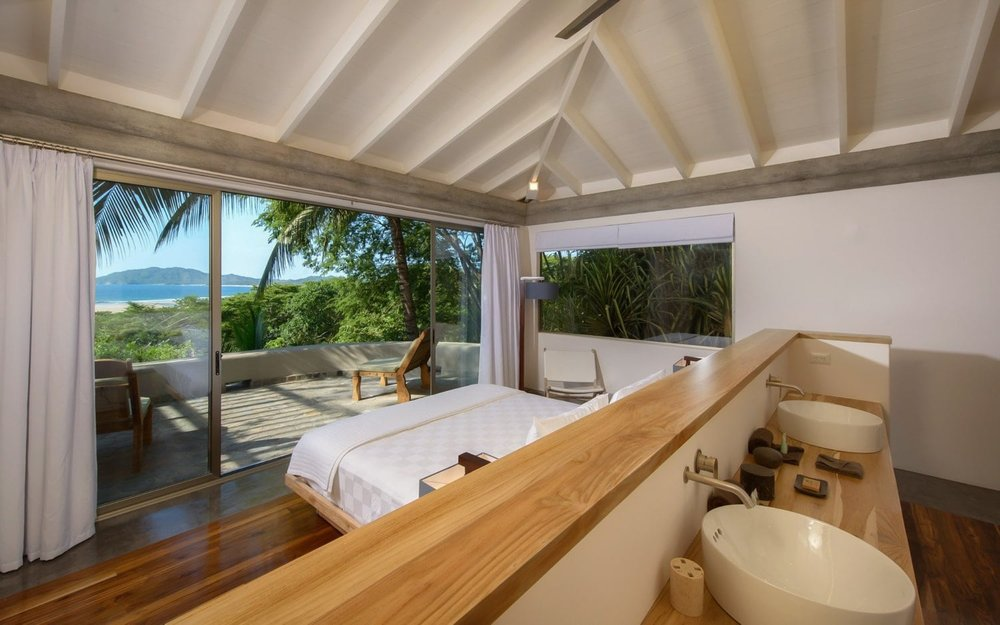 Upscale guest room for wedding guests at Sunset House in Costa Rica.