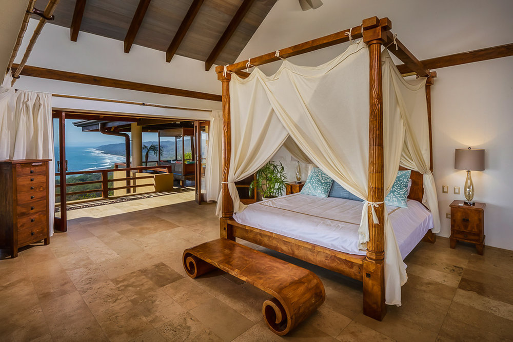 Stunning room with ocean view for honeymoon suite at Villa Numu.