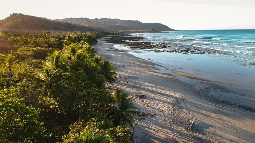 Gorgeous beach wedding ceremony site at Casa Chameleon Mal Pais.