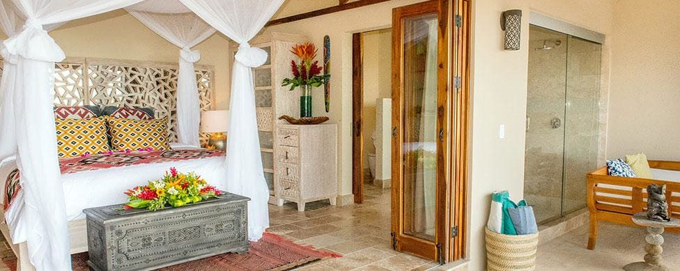 Luxury suite for wedding guests at Casa Chameleon Las Catalinas.