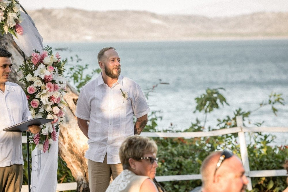 Gorgeous wedding ceremony location with ocean views at Occidental Papagayo in Costa Rica.