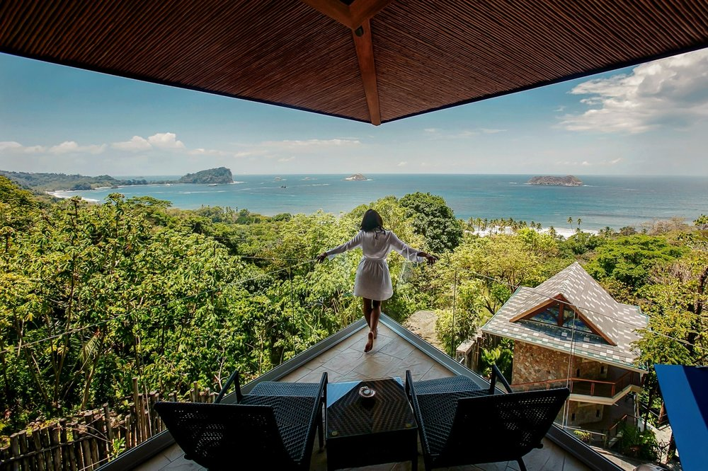View of suites at Villa Punto de Vista in Manuel Antonio, Costa Rica.