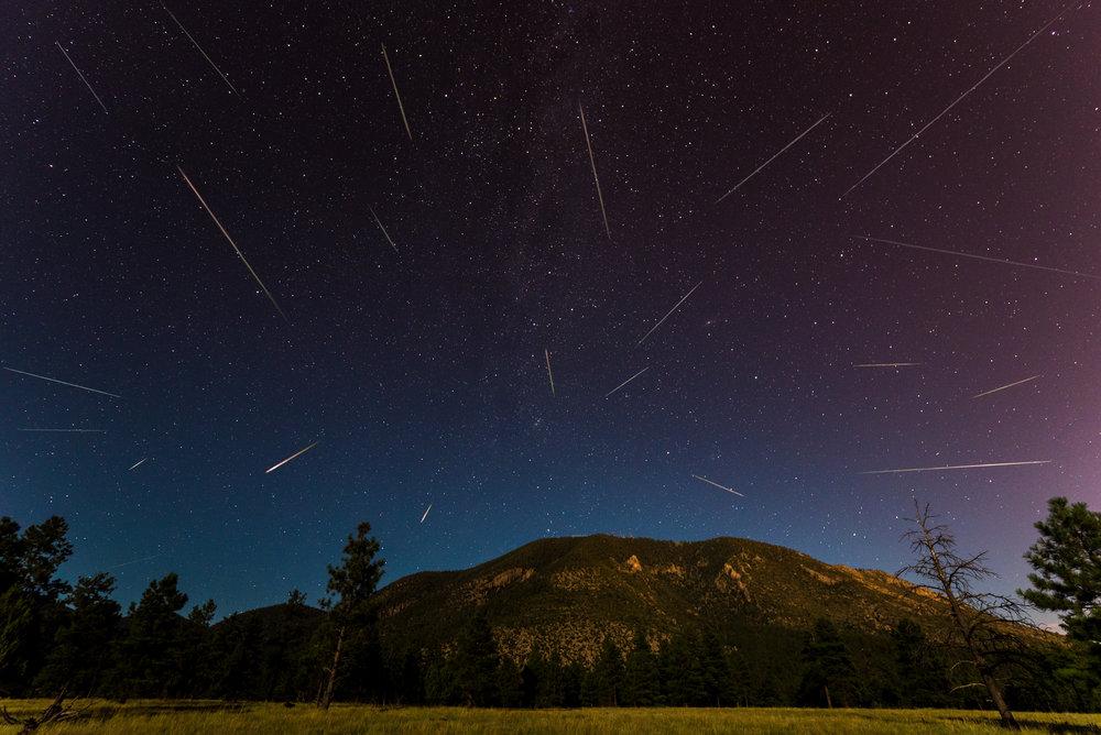 Perseid Meteor Composite