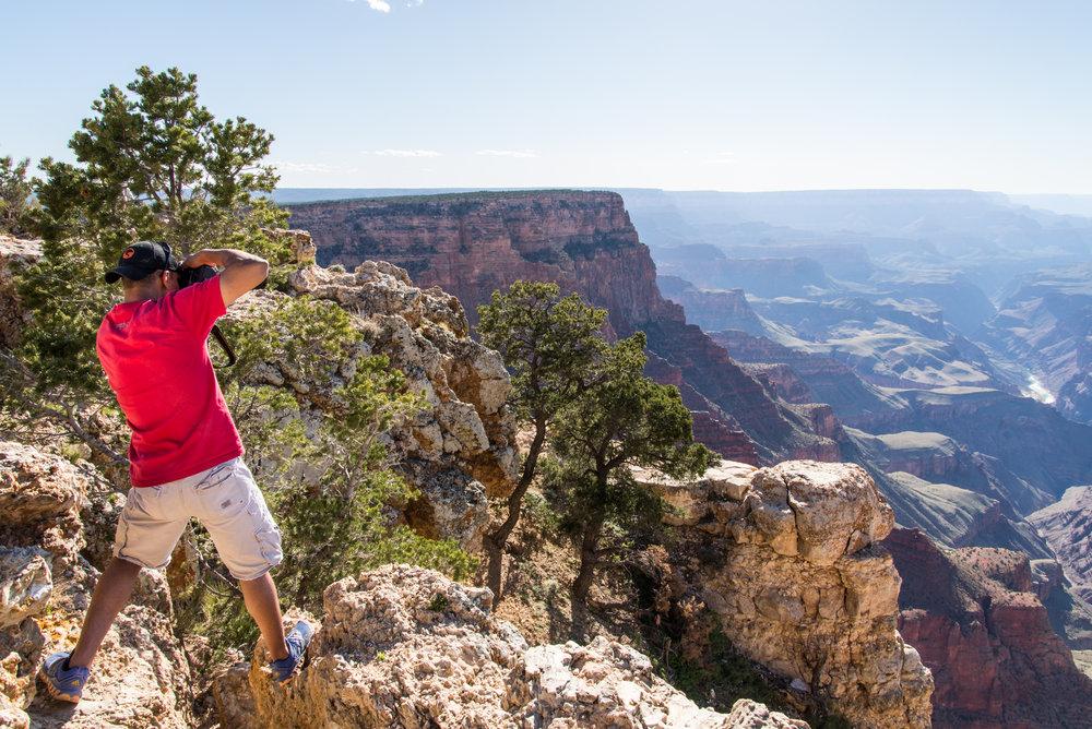 Justin Shooting the Canyon