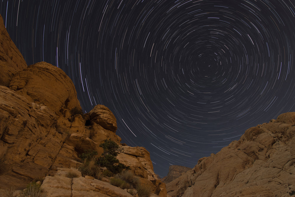 Star Trails - Calico Tanks, NV